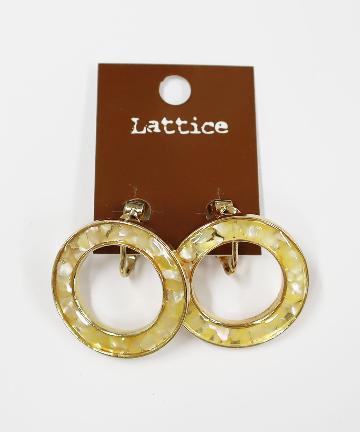 Lattice(ラティス) シェル封入サークルイヤリング