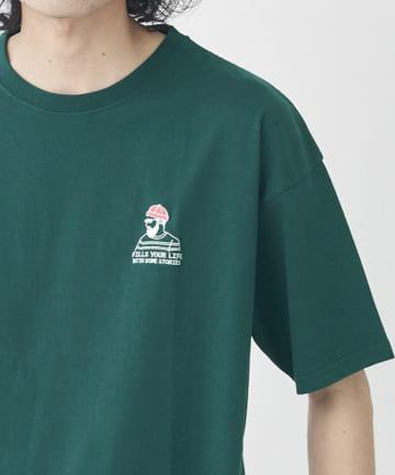 CPCM(シーピーシーエム) 【ユニセックスでおすすめ】1ポイント半袖刺繍T