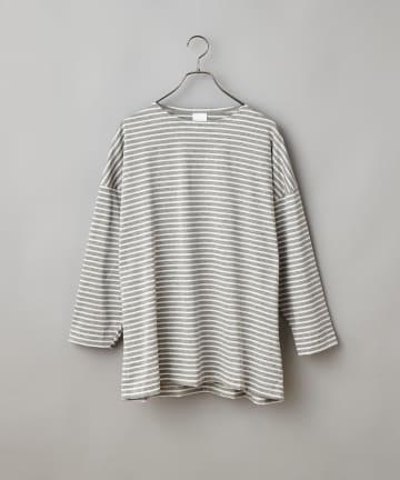 CIAOPANIC(チャオパニック) プレミアムタッチボーダー8分袖 ビッグTシャツ