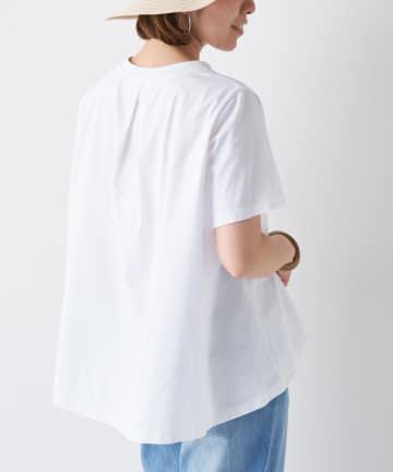 BONbazaar(ボンバザール) 《動画付き》後ろタックフレア無地Tシャツ