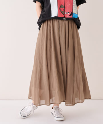 BONbazaar(ボンバザール) 《マストバイ、動画付き》コットンセミロングスカート