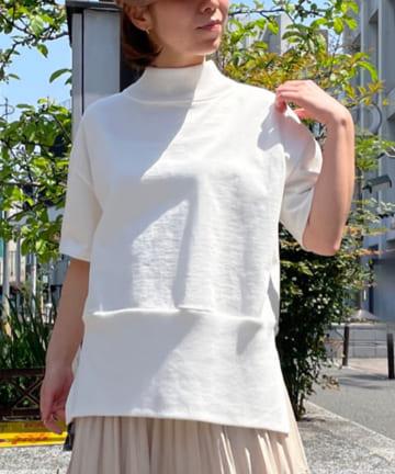 BONbazaar(ボンバザール) ニットドッキングTシャツ