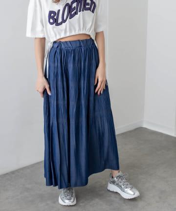 RASVOA(ラスボア) デニムライクロングスカート