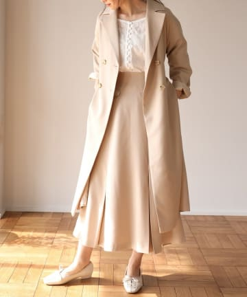 one after another NICE CLAUP(ワンアフターアナザー ナイスクラップ) 【Cherie chuu】piping belt trench coat