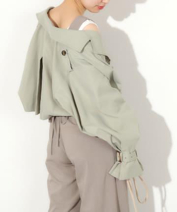 natural couture(ナチュラルクチュール) 【WEB限定】ショートトレンチジャケット