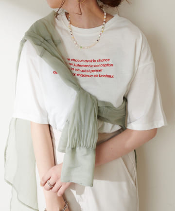 Discoat(ディスコート) 【WEB限定】刺繍ロゴTシャツ