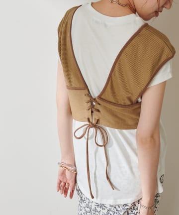 Discoat(ディスコート) 【WEB限定】ビスチェ×フレンチTシャツ