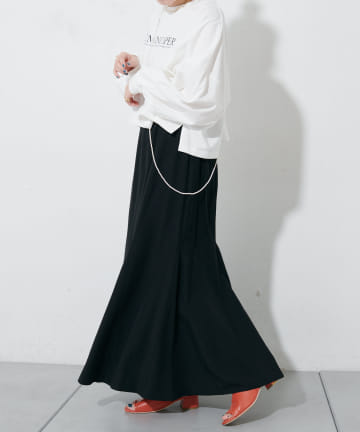 Discoat(ディスコート) リネン混ハギマーメイドスカート