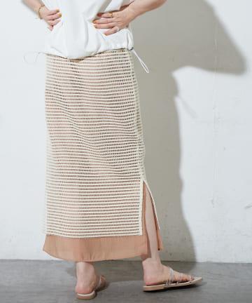 Discoat(ディスコート) メッシュレイヤードナロースカート