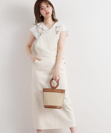 natural couture(ナチュラルクチュール) 大人ジャンパースカート