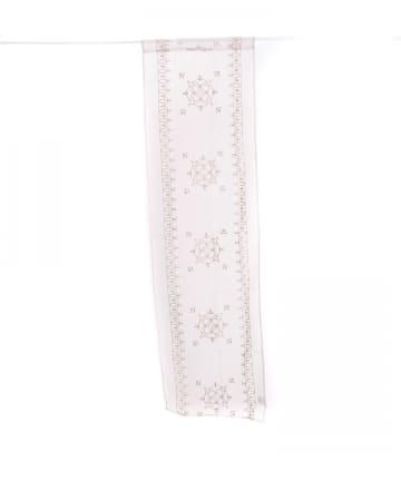 3COINS(スリーコインズ) 【素材にこだわる新生活】刺繍セパレートカーテンオーナメント