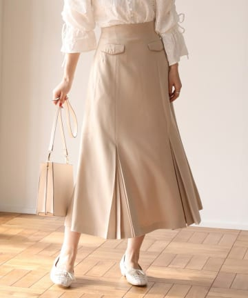 one after another NICE CLAUP(ワンアフターアナザー ナイスクラップ) 【Cherie chuu】pleats retro mermaid skirt
