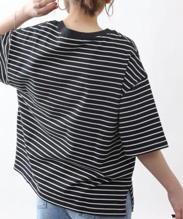 COLONY 2139(コロニー トゥーワンスリーナイン) 細ボーダー半袖Tシャツ
