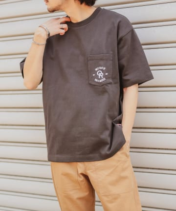 CIAOPANIC TYPY(チャオパニックティピー) USAヘビーコットン刺繍ロゴプリントポケットTEE