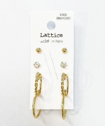 Lattice(ラティス) メッキセットピアス