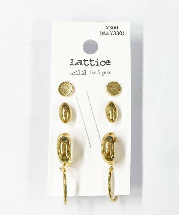Lattice(ラティス) シンプルセットピアス