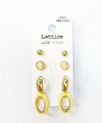 Lattice(ラティス) カラーセットピアス
