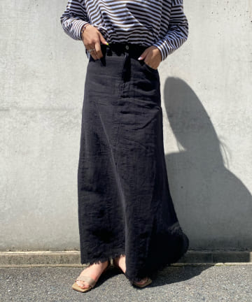 DOUDOU(ドゥドゥ) リネンリメイクスカート