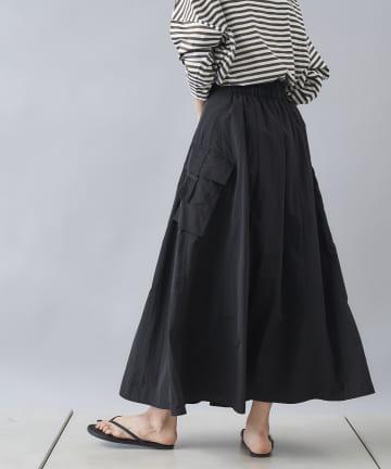 DOUDOU(ドゥドゥ) サテンカーゴスカート