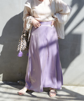 Discoat(ディスコート) オーロララメAラインスカート