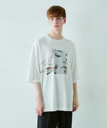 Lui's(ルイス) フェイスハンド スーパービッグシルエットTシャツ