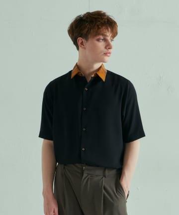 Lui's(ルイス) 半袖クレリックシャツ