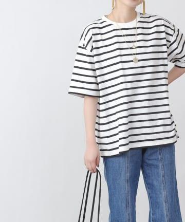 COLONY 2139(コロニー トゥーワンスリーナイン) 【WEB・一部店舗限定】先染めボーダーTシャツ