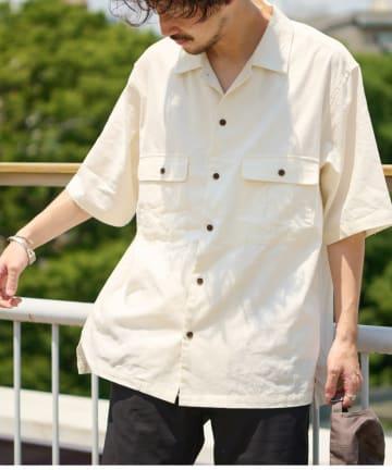 CIAOPANIC TYPY(チャオパニックティピー) リネン混ミリタリワークシャツ