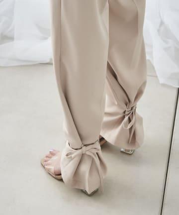 mona Belinda(モナ ベリンダ) 《期間限定タイムセール》裾絞りデザインパンツ