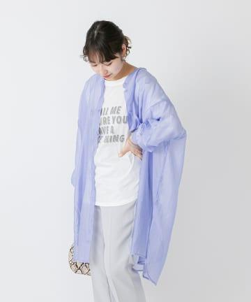 OUTLET(アウトレット) 【mystic】シアースタンドカラードルマンシャツ