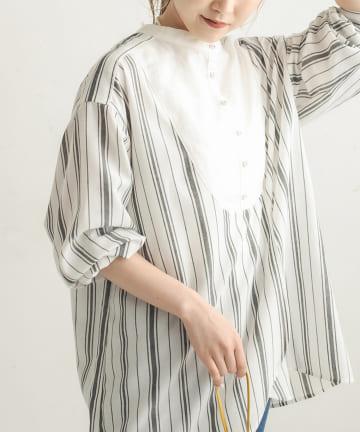 CAPRICIEUX LE'MAGE(カプリシュレマージュ) ストライプカフタンシャツ