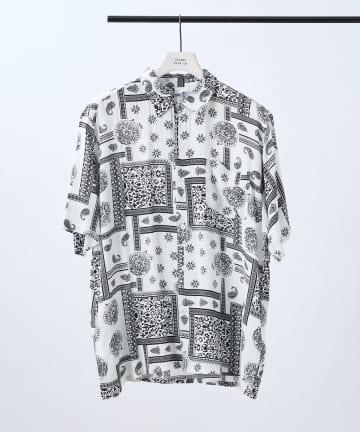 COLONY 2139(コロニー トゥーワンスリーナイン) ペイズリー/花柄/小紋柄オープンカラーシャツ【ユニセックス可】