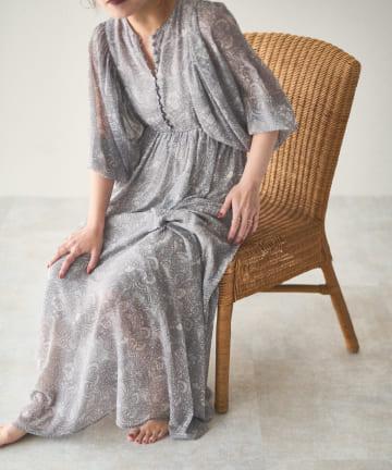 natural couture(ナチュラルクチュール) 【大人ナチュ】前後2WAYボリュームスリーブワンピース