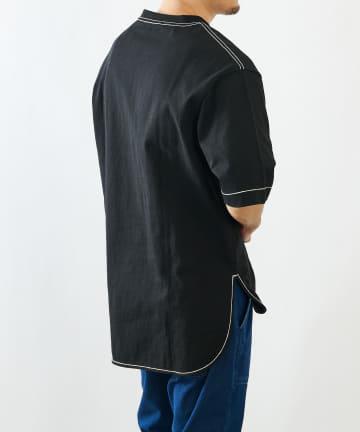 COLONY 2139(コロニー トゥーワンスリーナイン) 10/OE配色ステッチ前後差半袖Tシャツ(ユニセックス可)