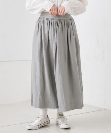 pual ce cin(ピュアルセシン) 麻レーヨンツイルスカート
