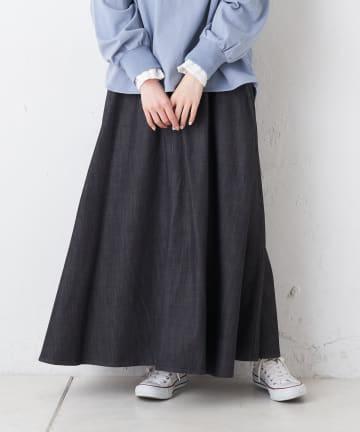 pual ce cin(ピュアルセシン) 【Du noir】シャンブレーデニムスカート