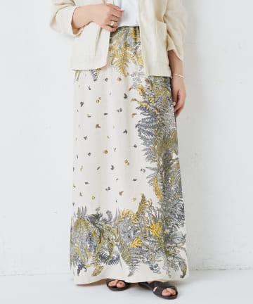 BEARDSLEY(ビアズリー) 《 動画付き》スカーフプリントスカート