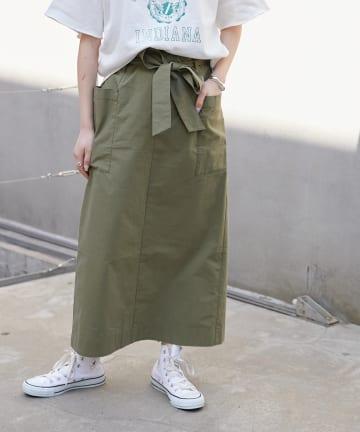 CIAOPANIC TYPY(チャオパニックティピー) 綿ナイロンアウトポケットIラインスカート