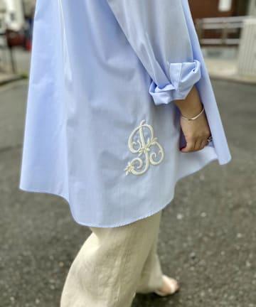 BEARDSLEY(ビアズリー) イニシャル刺繍シャツ