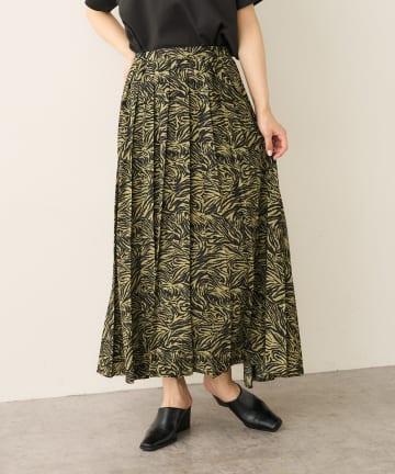 Lui's(ルイス) ゼブラプリントワイドプリーツスカート