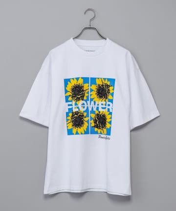 CIAOPANIC(チャオパニック) 【PICTURETHIS】PANIC OF GIRLS/フラワープリントTシャツ