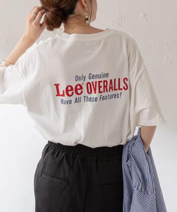 Discoat(ディスコート) 【Lee/リー】コラボポケ付刺繍バックプリントTシャツ