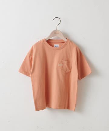 Discoat(ディスコート) 【キッズ】Lee/リー コラボポケ付刺繍バックプリントTシャツ