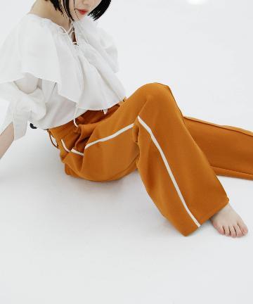 Kastane(カスタネ) ジャージスラックスラインパンツ