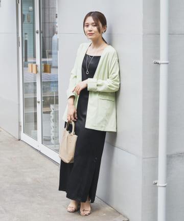 Omekashi(オメカシ) リネンノーカラージャケット