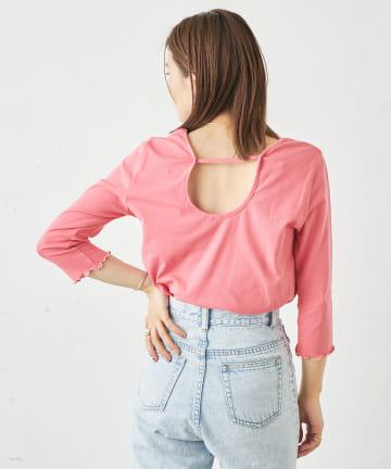 Omekashi(オメカシ) バックシャンストラップTシャツ
