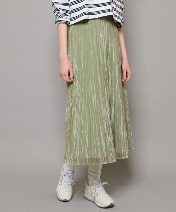 CIAOPANIC(チャオパニック) シアーアコーディオンプリーツマキシスカート