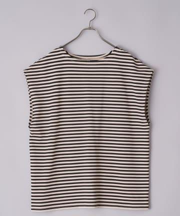 CIAOPANIC(チャオパニック) ボーダーノースリーブチュニックTシャツ