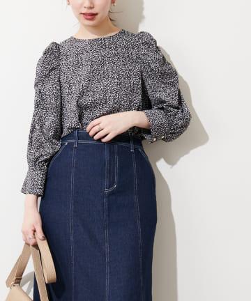 natural couture(ナチュラルクチュール) 【WEB限定カラー有り】春めきパワショルブラウス