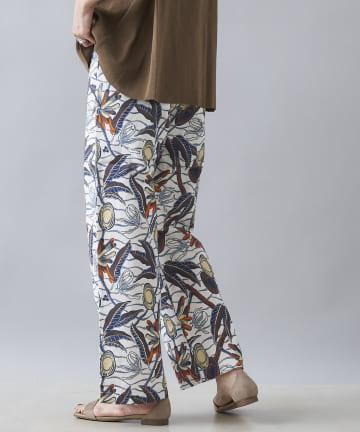 DOUDOU(ドゥドゥ) 【Saramallika】LINEN AFRICAN FLOWER PANTS